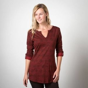 Toad & Co Tamaya Tunic Organic Cotton Red Printed
